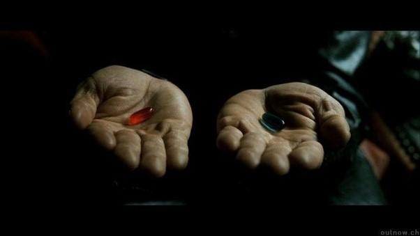 23 red or blue pill