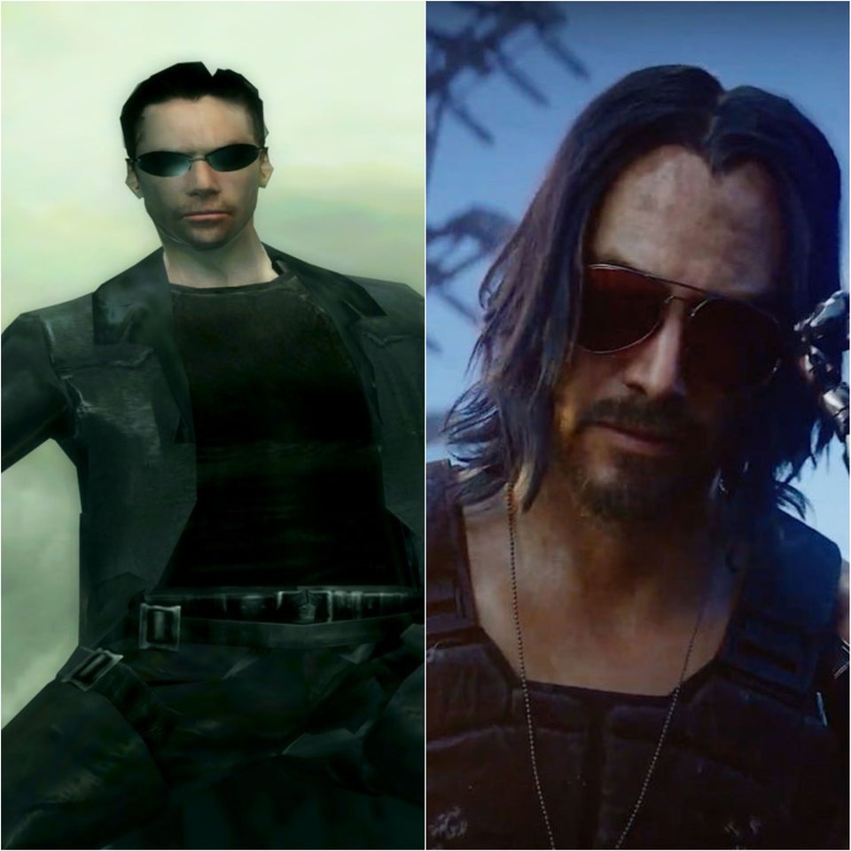Keanu videogame then and now
