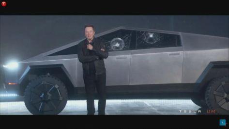 Elon Cybertruck awkward