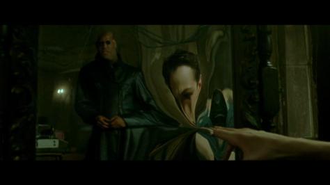 Neo touches mirror