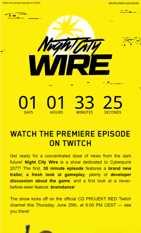 Night City Wire countdown