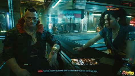 Cyberpunk 2077 gameplay shot
